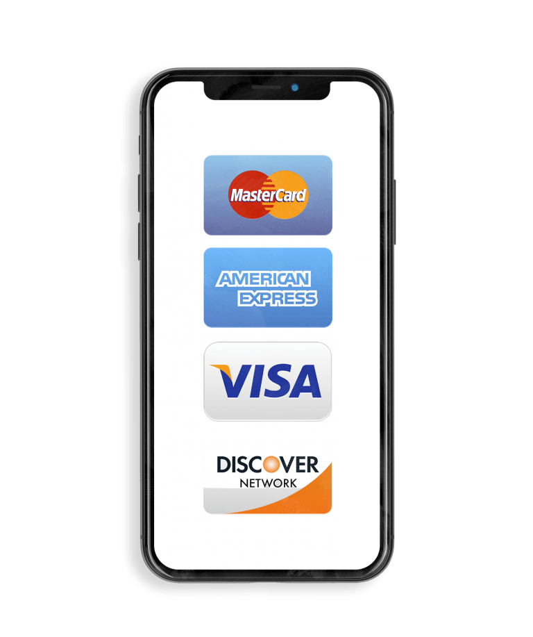 Credit card payments on mobile device
