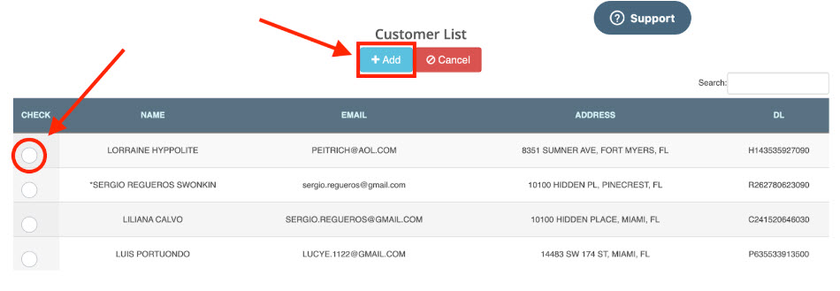 logitrac add customer to agreement