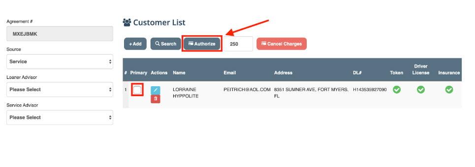 logitrac authorize payment