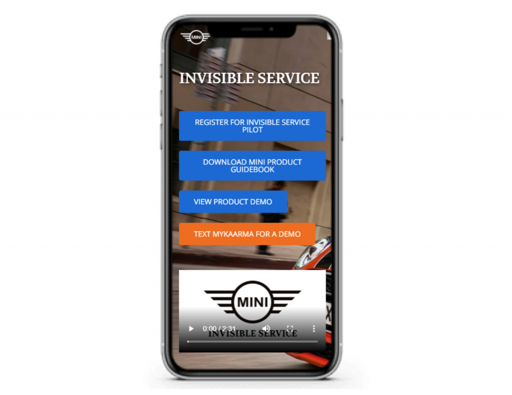 Mobile view of mobile-first